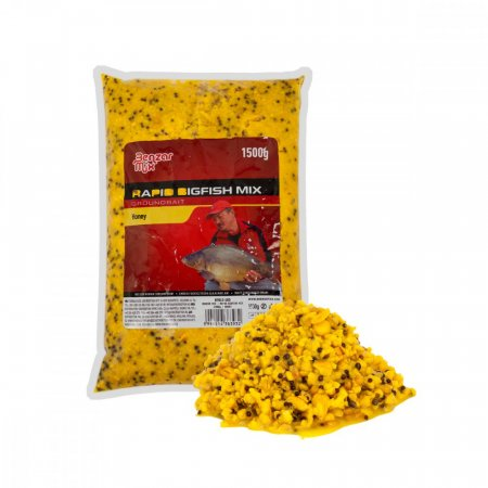 Benzar Mix kŕmna zmes Rapid Bigfish Mix - 1,5kg - Varianta: Jahoda