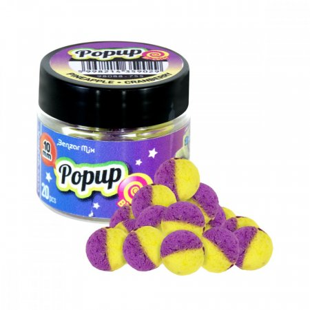 Benzar Mix Bicolor Pop Up 10mm - Varianta: Belachan-Krill