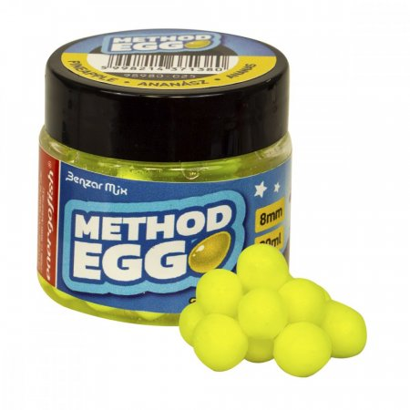 Benzar Mix Method Egg 8mm 30ml - Típus: Jahoda - Červené