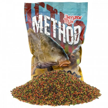 Benzar Mix Method Pellet 2mm 800g - Típus: Green Betain